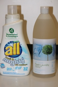 Changing All Free and Clear Laundry Detergent to Shaklee Fresh Laundry Detergent